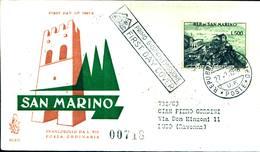 6819) SAN MARINO-FDC-VENETIA-500 LIRE-Veduta Di San Marino - 27 Febbraio 1958 - FDC