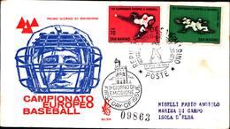 13246a)F.D.C.SAN Marino    Campionati Europei Di Baseball - 29 Agosto 1964 - FDC