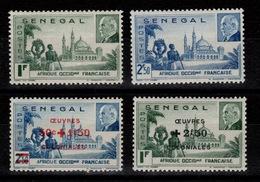 Senegal - YV 177 & 178 Et 187 & 188 N* Petain Et Oeuvres De Guerre - Sénégal (1887-1944)