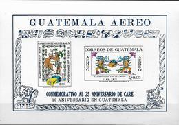 1971Guatemala  Mi.Bl. 12  **MNH  25 Jahre CARE-Hilfsorganisation Für Die Welt, 10 Jahre CARE-Hilfe Für Guatemala - Guatemala