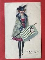 1919 - Illustrateur MAUZAN - ELEGANTE DAME MET HOEDENDOOS - BEAUTE AVEC BOITE AU CHAPEAU - Mauzan, L.A.
