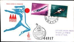 13247a)F.D.C.SAN Marino  Olimpiadi Di Tokio - 25 Giugno 1964 - FDC