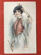 Illustrateur USABAL - MEISJE IN KLEDERDRACHT - FILLE EN COSTUME - Usabal