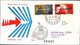 13248a)F.D.C.SAN Marino   Balestra - ESPRESSI - 28 Agosto 1965 - FDC
