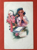 1922 - Illustrateur USABAL - CUPIDO BRENGT EEN LIEFDESBRIEF - CUPIDON EMPORTE UNE LETTRE D'AMOUR - Usabal