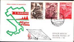 13249a)F.D.C.SAN Marino   Giro Ciclistico D'Italia - 15 Maggio 1965 - FDC