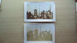 AFRICA ORIENTALE COLONIE 1912 2 FOTO DI FANTASIA ARABA DERNA LIBIA - Altri