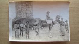 AFRICA ORIENTALE COLONIE 1912  FOTO DI ASCARI E MILITARE ITALIANO SU CAMMELLO - Foto