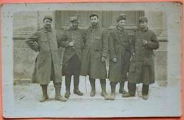 CARTE PHOTO De 1915 - MILITARIA - GROUPE MILITAIRES - BANCOURT - 62  -SCAN RECTO/VERSO-10 - Guerre 1914-18