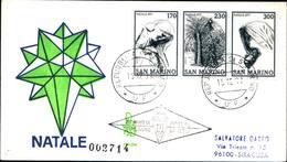 13251a)F.D.C.SAN Marino   Natale - 15 Dicembre 1977 - FDC