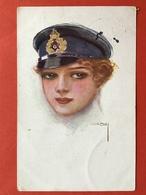 1917 - Illustrateur USABAL - JONGE DAME MET PET - JEUNE FEMME AVEC CASQUETTE - Usabal