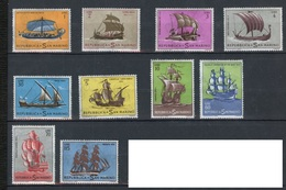 Saint Marin - San Marino 1962 Y&T N°573 à 582 - Michel N°750 à 759 * - Histoire De La Marine - San Marino