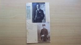2 FOTO FORMATO PICCOLO CON IL CALCIATORE DELLA NAZIONALE ITALIANA UMBERTO SOLDATI AUTOGRAFO 1917 MILAN CALCIO - Altri