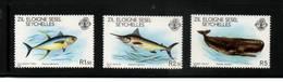 SEYCHELLES Zil Eloigne Sesel  Neuf Sans Charnière N° 20 à 22    N** Faune Marinne 1980 - Seychelles (1976-...)
