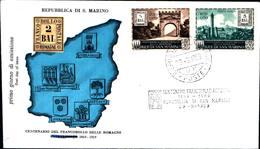 13252a)F.D.C.SAN Marino    Centenario Dei Francobolli Delle Romagne - 29 Agosto 1959 - FDC