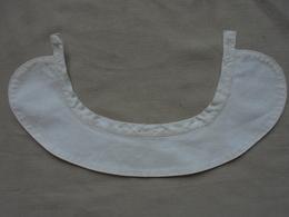 Ancien - Col De Brassière/chemise Pour Bébé/baigneur/poupée En Coton Blanc - Other