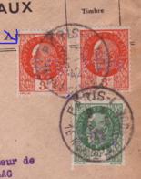 """Lettre Recommandée 182 """"Messageries De Journaux"""" Aff Pétain Obl. Paris 16.06.1942 -Perfins : MH -> Leipzig - Censure E - Guerre De 1939-45"""