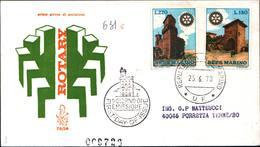 13257a)F.D.C.SAN Marino    Rotary International - 25 Giugno 1970 - FDC