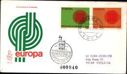 13258a)F.D.C.SAN Marino      Europa - 30 Aprile 1970 - FDC