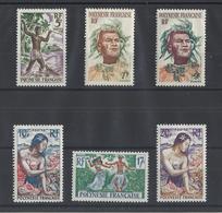 POLYNESIE .  YT  N° 6/11  Neuf **  1958 - French Polynesia