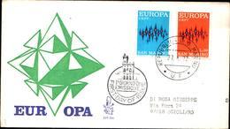 13259a)F.D.C.SAN Marino     Europa - 27 Aprile 1972 - FDC