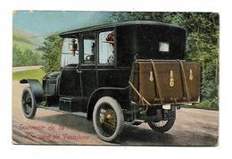Souvenir De La Fontaine De Vaucluse -carte à Système -voiture Ancienne ,malle (D.2418) - France