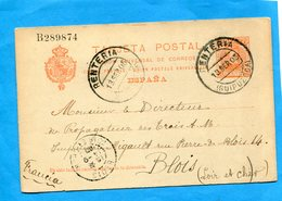 Marcophilie -ESPANA-carte Entier Postal Stationnery-10c N° B 289874  Cad RENTERIA Sept 1905 - Stamped Stationery