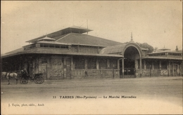 Cp Tarbes Hautes Pyrénées, Le Marché Marcadieu, Markt - Sonstige Gemeinden