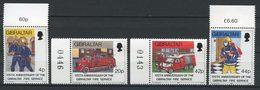 GIBRALTAR 1990 N° 603/606 ** Neufs MNH Superbes C 10 € Pompiers Voitures Service Incendie Cars - Gibraltar