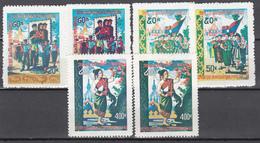 1978 Yvert Nº 328 / 330, 328a / 330a,  MNH, Día  Nacional - Laos