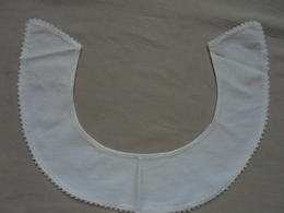 Ancien - Col Pour Chemiseou Robe Femme/fillette En Coton Blanc - Vintage Clothes & Linen
