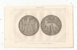 Gravure , France XIII E Siècle , Sceau De La Commune De BAYONNE , Gaucherel , Lemaitre ,  227,  Frais Fr : 1.65 E - Stiche & Gravuren