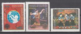 1979  Yvert Nº 343 / 345,  MNH,  Día Internacional Del Niño - Laos