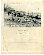 14  Carte-lettre ARROMANCHES  Grande Cale Et Route De Bayeux Par Tracy   Peu Courant?    Bon état (traces) - Arromanches