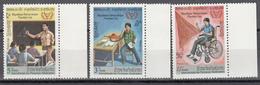 1981  Yvert Nº 367 / 369,  MNH,  Personas Discapacitadas - Laos