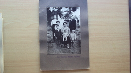 PUGLIA GRAVINA BARI FOTO FORMATO GRANDE CON GRUPPO FAMILIARE FOTOGRAFO CAVALIERE VINCENZO SIMONE - Altri