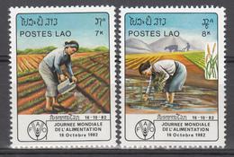 1982  Yvert Nº 436 / 437,  MNH,  Agricultura,  Día Mundial De La Alimentación - Laos