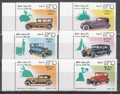 1982  Yvert Nº 430 / 435,  MNH,  Automóviles Antiguos - Laos