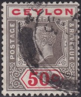 Ceylon    .   SG  .     353a   Die I     .       O     .   Cancelled        .   /    .  Gebruikt - Ceylon (...-1947)