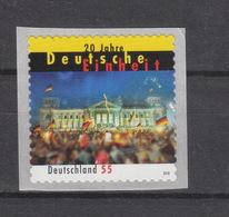 Deutschland BRD ** 2822 20 Jahre Deutsche Einheit Selbstklebend  Mit Nummer - [7] República Federal