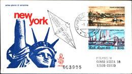 13268a)F.D.C.SAN Marino     Vedute Di New York - 9 Marzo 1973 - FDC