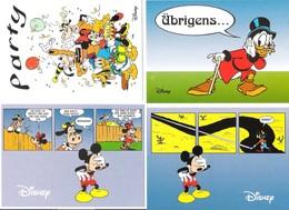 Germany - 4 Cards - Walt Disney - Comic - Donald Duck - Mickey Mouse - Dagobert - Minnie - Goofy - Comic - Disney