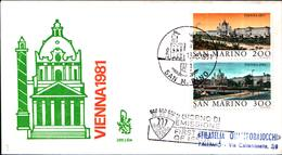 13270a)F.D.C.SAN Marino    Esposizione Filatelica Internazionale, A Vienna - 15 Maggio 1981 - FDC