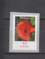 Deutschland BRD ** 2477 Blumen Klatschmohn Selbstklebend  Auf Folie Mit Nummer - BRD