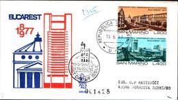 13271a)F.D.C.SAN Marino     Centenario Dell'indipendenza Della Romania - 15 Giugno 1977 - FDC