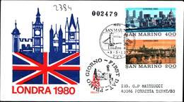 13272a)F.D.C.SAN Marino      Esposizione Filatelica Internazionale, A Londra - 8 Maggio 1980 - FDC