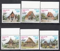1982 Yvert Nº 418 / 423 MNH, Templos, Vat Lemon, Vat Inpeng, Dong Mieng, Ho Tay, Vat Ho Pah Keo, - Laos