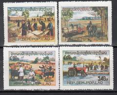 1980 Yvert Nº 354 / 357 MNH,  Celebracion, 5th Year Demo Rep - Laos