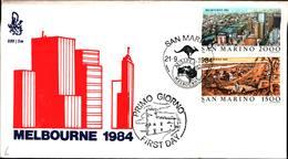 13276a)F.D.C.SAN Marino    Esposizione Filatelica Internazionale, A Melbourne - 21 Settembre 1984 - FDC