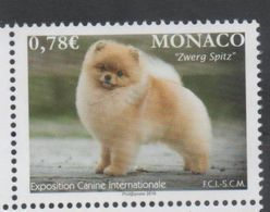 MONACO, 2018, MNH,DOG SHOW, DOGS, 1v - Chiens